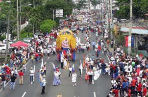 Desfiles realizados en el área de Juan Díaz. Foto: Víctor Arosemena
