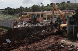 El MOP continúa buscando la supuesta obstrucción que ocasionó  la anegación. Víctor Arosemena