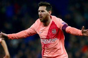 Lionel Messi celebra uno de sus goles.