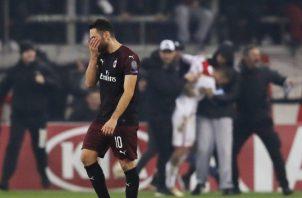 El equipo italiano no pudo con los griegos. AP