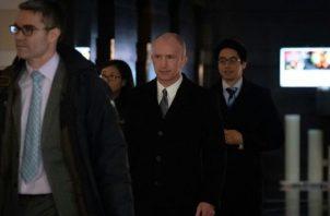 Momento en que la delegación de Estados Unidos llega a la capital de China. Tomada de Internet
