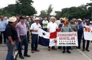 En la última protesta que realizaron los productores detuvieron a varios. Archivo