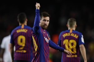Lionel Messi es el goleador de la liga con 17 tantos. AP