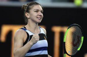 Simona Halep celebra su victoria sobre Venus. EFE