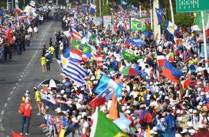 Miles de jóvenes han venido a Panamá para la JMJ.  EFE