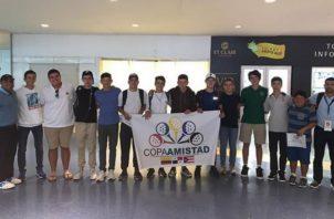 El equipo panameño a su llegada a Puerto Rico.
