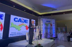 Participación de Blandón en la conferencia de Apede, en Colón. Cortesía