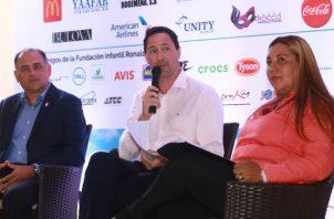 De izq. a dcha.: Loney Armijo, Alfonso Casteñeira y Ninfa Jordan durante la conferencia de prensa de ayer. Anayansi Gamez