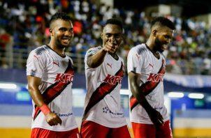 Jhamal Rodríguez, Cristian Zúniga e  Isidoro Hinestroza han dado resultado al Sanfra. @LPF