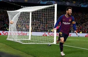 Leo Messi anotó dos goles contra Liverpool. EFE