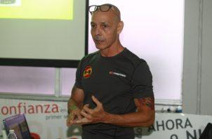 José Luis Alberte durante la clase de certificación. Anayansi Gamez