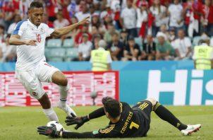 Ismael Díaz (izq.) en el Mundial de Rusia. AP