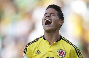 James Rodríguez presentan molestias que le impiden estar en el duelo contra Panamá. AP