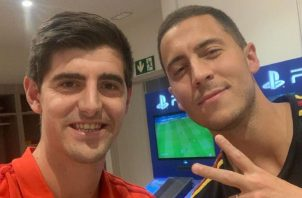 Hazard y Courtois son amigos. Instagram