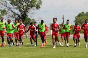 Entrenamientos del equipo panameño. @Fepafut