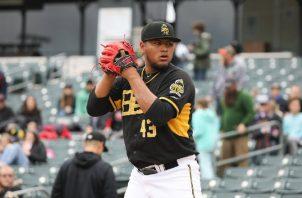 Jaime Barría ha lanzado en Triple A y en la MLB este año. Salt Lake Bees