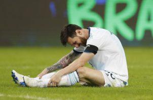 Lionel Messi durante el partido contra Paraguay. AP
