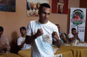 """Bryan """"La Roca"""" De Gracia se prepara para su combate ante el nicaragüense Díaz. Anayansi Gamez"""