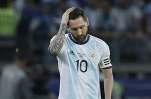 Messi se mantiene en sequía de título con Argentina. AP