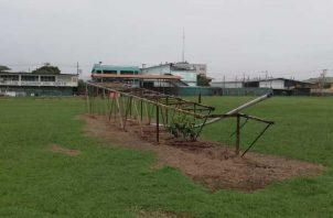 El estadio Justino Salinas está en el abandono desde 2017, cuando fue cerrado por la caída de la parte de un muro. Cortesía