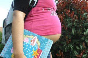 Las cifras del Ministerio de Salud son de jóvenes embarazadas en edad de 10 a 19 años.