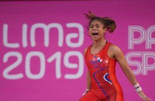 Erika Ortega compitió en los -49 kilogramos y quedó en el octavo lugar. Foto @CopPamana