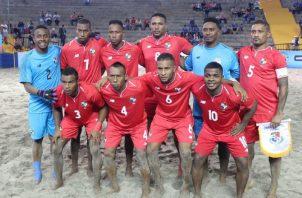 Selección de fútbol playa. @Fepafut