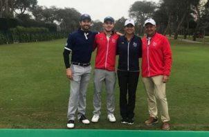 Los golfistas panameños en una práctica previa. Cortesía