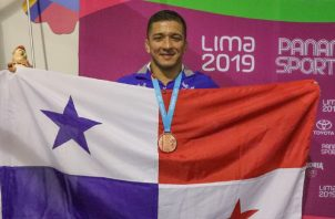 Alvis Almendra logra en Lima su segunda medalla panamericana, la primera fue en Toronto con una de plata. @Colimpicopanama