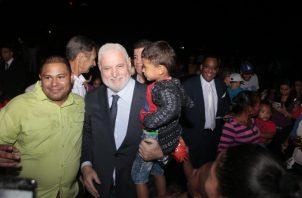 Ricardo Martinelli participó de la celebración de los 500 años de la Ciudad de Panamá. Foto de Víctor Arosemena