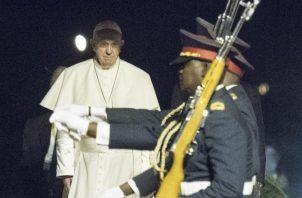 Hacen honores al papa Francisco. EFE