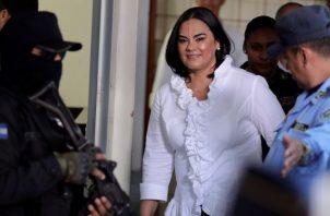La foto fue tomada el 20 de agosto de 2019 cuando la ex Primera Dama llegaba al tribunal. EFE