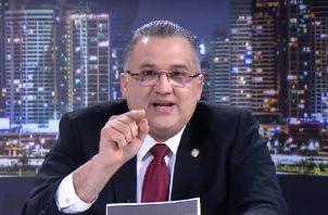 Alfredo Vallarino hizo fuertes señalamientos en contra de la procuradora Kenia Porcell.  Foto: Cortesía