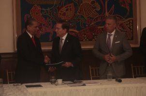 Presidente Laurentino Cortizo recibe informe del Pacto de Estado por la Justicia. Víctor Arosemena.