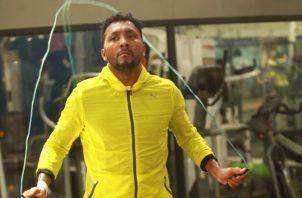 Anselmo Moreno durante un entrenamiento en el Rockero Alcázar Foto Anayansi Gamez