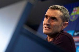 Ernesto Valverde, entrenador del FC Barcelona. Foto EFE