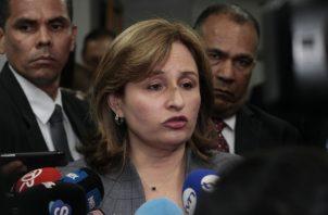 Kenia Isolda Porcell fue designada por el expresidente Juan Carlos Varela como procuradora general de la nación. Foto Archivo.