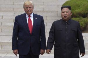 Donald Trump y Kim Jong-un. FOTO/AP