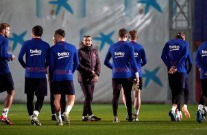 Barcelona aseguró el primer lugar de su grupo. EFE