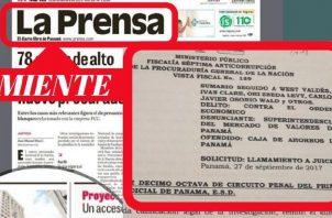 El caso al que hace referencia La Prensa está en la etapa de audiencia.