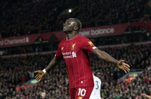 Sadio Mané lleva once goles en la campaña. Foto AP