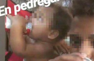 Filmaron al infante tomando cerveza, las autoridades  investigan los detalles del caso. Mayra Madrid