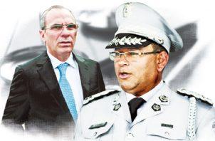 Jacinto Gómez y Rolando López fueron señalados como los exfuncionarios que armaron el expediente contra Martinelli. Archivo