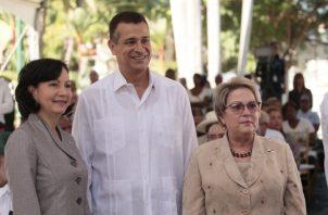 Los tres nuevos magistrados de la Corte Suprema de Justicia.  Víctor Arosemena