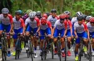 Selección panameña de ciclismo. Foto:@Fepaci