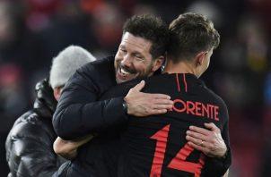 Simeone y Llorente. Foto: AP