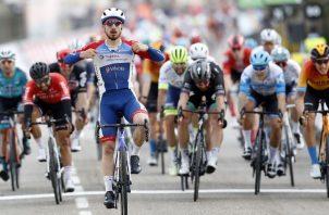 Niccolo Bonifazio durante una etapa de la Paris-Nice. Foto EFE