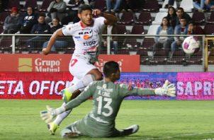 Jorman Aguilar lleva ocho goles anotados en Costa Rica. Foto @adsancarlos