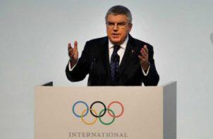 Thomas Bach, presidente del COI. Foto AP