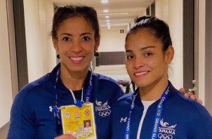 Miryam Roper (izq.) y Kristine Jiménez de judo. Foto:COP